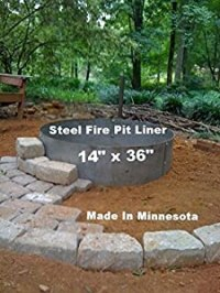 "Steel Metal Fire Pit Ring Liner Insert 36"" x 14"""