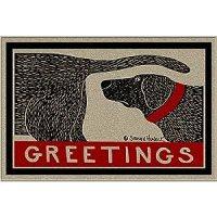 Dog Sniffing Doormat