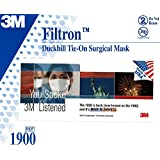 The 3M 1900 surgical mask meets the needs of clinicians seeking a premium surgical mask. Lightweight, three-layer construction is comfortable to wear. It's designed to fit a variety of facial shapes and sizes. The off-the-face (duckbill) design helps...