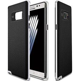 Galaxy-Note-7-Case-MYRIANN-PREMIUM-BUMPER-Neo-Hybrid-Dual-Layer-Premium-Case-Slim-Fit-Heavy-Duty-Protective-Cover-for-Samsung-Galaxy-Note-7-2016-Silver
