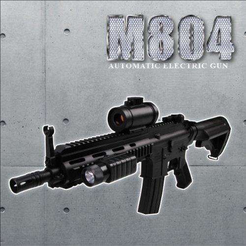 高性能1/1スケールアサルトライフル 電動ガンM4 CQBバージョン フラッシュライト、スコープ搭載モデルM804エアガン