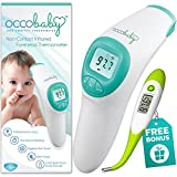 Clinical Non-Contact Baby Forehead Thermometer NEW 2017 EDITION with Bonus Fast Flexible Tip Waterproof Digital Thermometer for Infants & Toddlers | Instant Read Professional Infrared No Touch Scanner