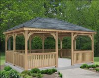 10' x 10' Cedar Rectangular Gazebo - Gazebos - Patio and ...