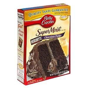 Amazon.com : Betty Crocker Supermoist Cake Mix, Chocolate Fudge, 18.25-Ounce Boxes (Pack of 12 ...