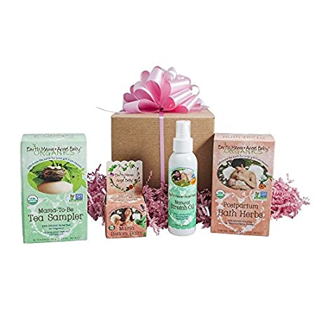 Includes: Mama-To-Be Tea Sampler, (1 Box). 4 bags each of USDA Certified 100% Organic herbal teas: Morning Wellness Tea, Heartburn Tea, Third Trimester Tea and Peaceful Mama Tea; Natural Stretch Oil, 30 ml. (1 fl. oz.). 100% natural herb-infused oil ...