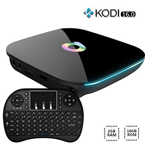 Easytone 4K Android 5.1 Smart TV BOX [2GB/16GB] Amlogic S905 Streaming Media Player Bluetooth Kodi Add-Ons Quad Core Speed Wifi XBMC Pre-installed with 2.4G I8 Wireless Keyboard