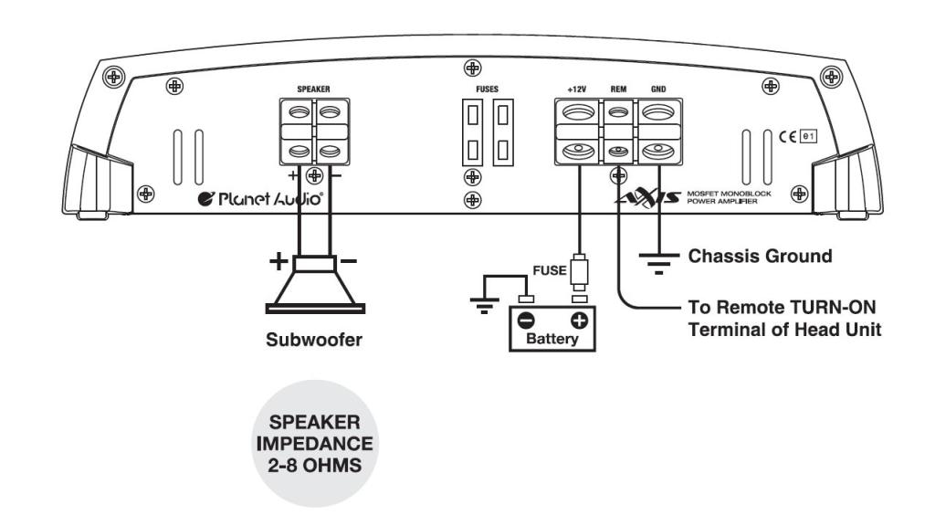 precision power subwoofer wiring diagram