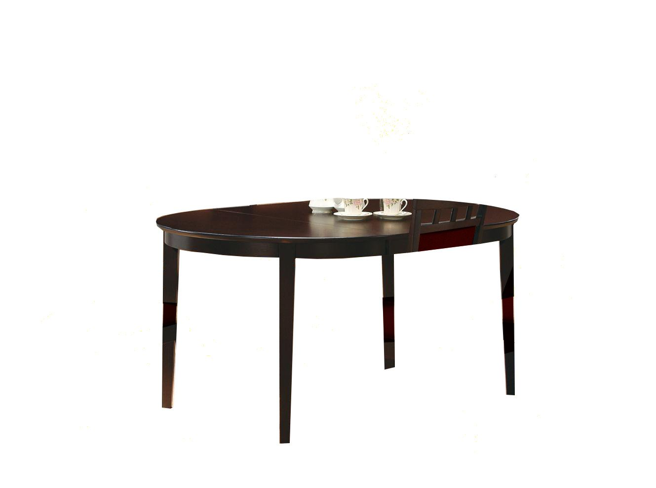 Finish Tables Cappuccino Finish Wood Dining Table Oval Kitchen Tables