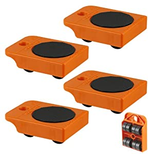 4pc Furniture Mover Rollers