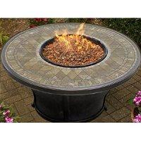 Amazon.com : Balmoral Porcelain Top Gas Fire Pit Table ...