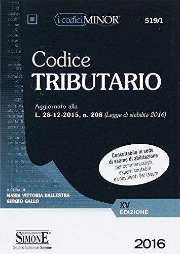 Codice tributario. Ediz. minore