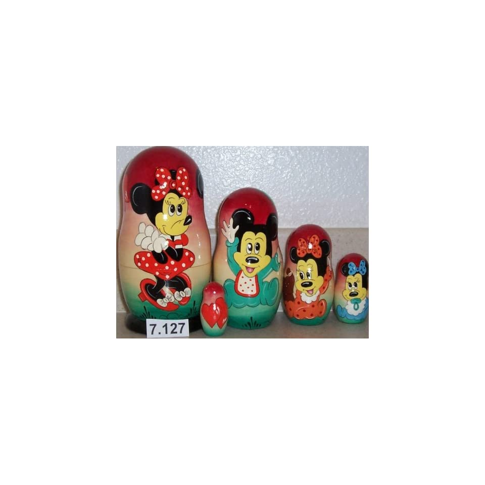 Mickey Mouse Bettwäsche Russian Nesting Mickey Mouse Micky Doll 5 Pieces 7 In Tall