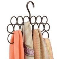 Clothe Hangers Closet Organizers Bronze Scarf Hanging ...