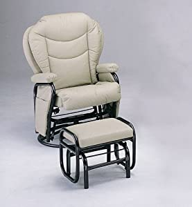 Amazoncom Swivel Glider Rocker Chair With Ottoman Ivory