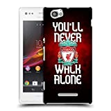 Official Liverpool Football Club Red Pixel Plain Crest YNWA Hard Back Case for Sony Xperia M / M Dual