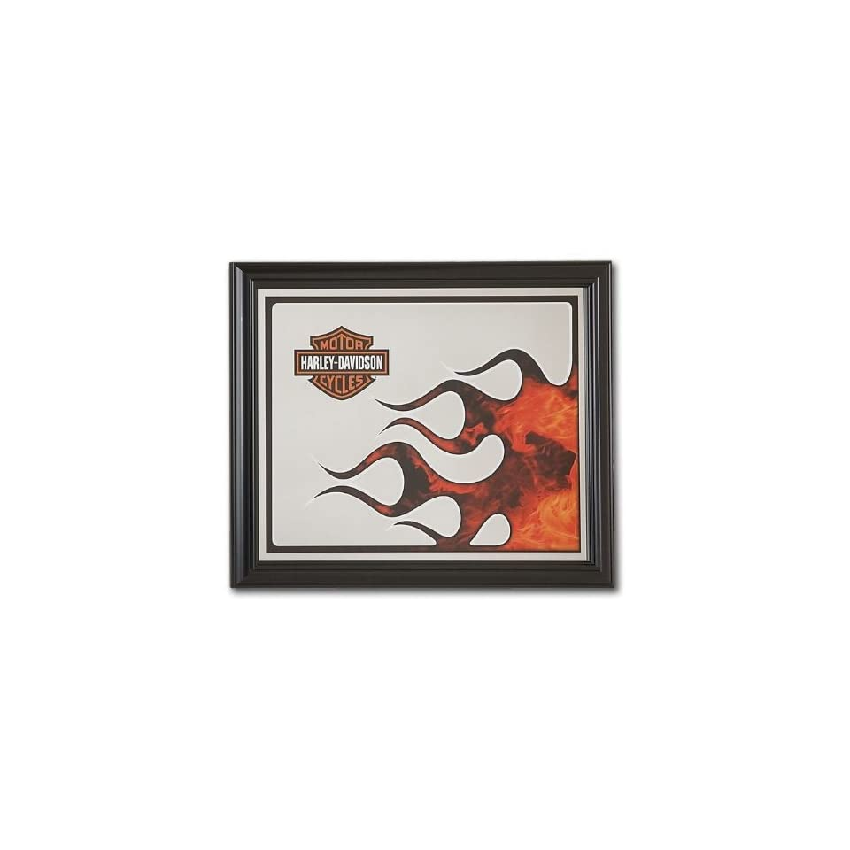Bettwäsche Harley Davidson Harley Davidson Extreme Flames Wall Mounted Mirror Full Color