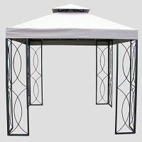 8' x 8' Steel Gazebo - Gazebos - Patio and Furniture