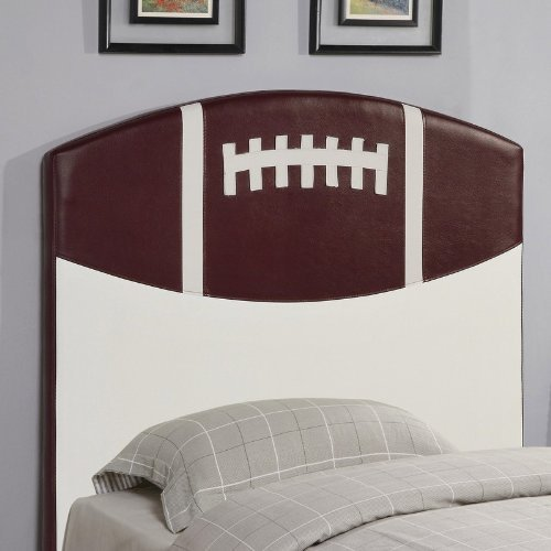 Image of Twin Size Kid Headboard with Football Design (VF_460169)