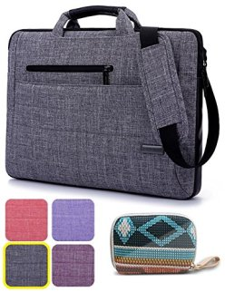 Laptop-Bag-with-Gorgeous-Accessory-Bag-BRINCH-Multi-functional-Suit-Fabric-Portable-Laptop-Carrying-Bag-Shoulder-Laptop-Bag-Notebook-Computer-Sleeve-Case-Bag