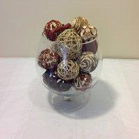Jodhpuri Decorative Spheres, Brown Home Garden Bowls