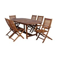 Patio Sets Clearance: Amazonia Milano 7-Piece Extendable ...