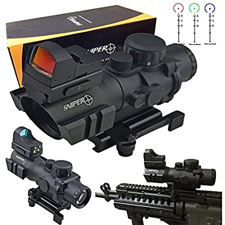 "Product Description Built on Prism, it's so tactical, length only 5.5"". Reticle with position for 100 and 150yards, with lines in-between. Side wheel Red Green and Blue illumination . Adventure class lenses are multicoated with advantage solution to ..."