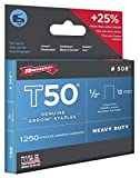 Arrow 504 Genuine T50 1/4-Inch Staples, 1,250 staples per Pack