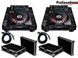 Pioneer CDJ-2000-NEXUS - NXS Digital DJ Turntable (Pair) - Free Cases and RCA Cables - (ProSoundGear Authorized Seller)