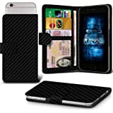 Huawei Enjoy 5s Adjustable Spring Wallet ID Card Holder Case Cover (Carbon Fibre) Plus a FREE Stylus Pen. Get Best Valued Case On Amazon Now - By FinestPhoneCases
