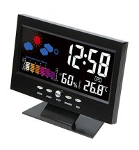 Hippih Electronic Table Clock Digital LCD Snooze Alarm ...