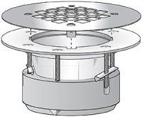"""2"""" Pull Tight Compression Shower Drain - PVC (White ..."""