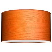 Seascape Lamps Deep Drum Lamp Shade - Veneer Orange ...