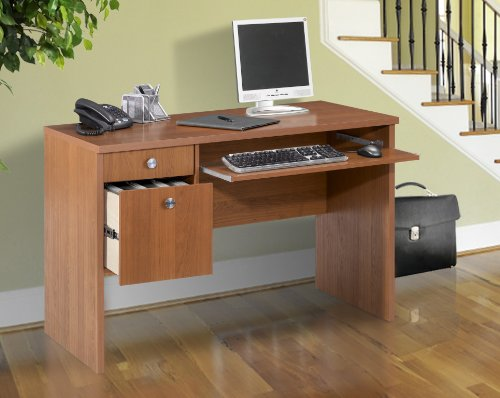 Picture of Comfortable Nexera Essentials 48-Inch Computer Desk with File Drawers - Cappuccino (B0050JCSMY) (Computer Desks)
