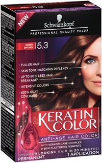 Schwarzkopf Keratin Hair Color, Berry Brown 5.3, 2.03 ...