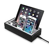 GVDV 4 in 1充電スタンド Apple watch/タブレット/iPhone/iPad/iWatch/スマートフォン対応 ブラック+グレー