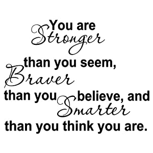 Your Stronger Than You Think Quote