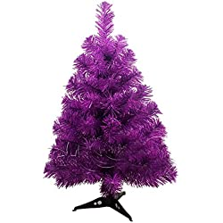 MagicMen Multi colored Christmas tree Artificial Christmas Pine Tree 2 ft