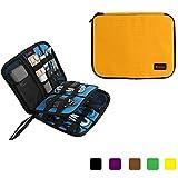 Teckone Universal Organiser Tragbar Veranstalter Reise Tragen Fall Case Tasche für WD My Passport Ultra/Samsung M3/Toshiba Festplatte Hard drive/ USB Kabel/ Elektronik-Zubehör/ Batterie-Speicher, Gesundheitswesen und Grooming Kit (Groß-Orange)