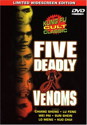 519X1DNJXJL. SL500  Kung Fu Saturdays: Five Deadly Venoms