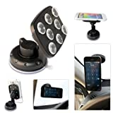 First2savvv New black super strong 360 degrees anti slip octopus vacuum Suckers windscreen Car Mount Cradle Holder Stand for ALCATEL IDOL2 MINI POP C2 POP D1 POP D3 POP D5 FIRE C FIRE E IDOL 2 MINI L POD 2 (4.5) HERO 2