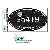 Zip Code 25419 Falling Waters, WV Euro Oval Window Bumper Laminated Sticker - Night Sky
