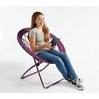 Amazon.com : Bunjo Bungee Chair Purple Large. Dorm ...