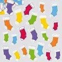 クリスマスブーツ フェルトシール(120枚入り)子どもたちの手作りカードや工作、コラージュに