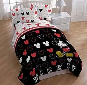 Amazoncom Disney Mickey Mouse Twin Bedding Comforter