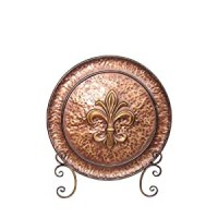 Amazon.com - Elements Metal Charger Plate on Stand, Fleur ...