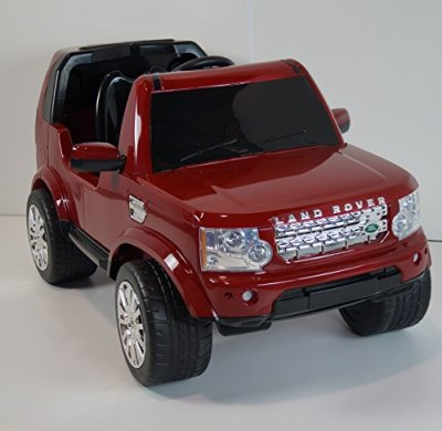 New-2015-Land-Rover-Discovery-12V-Kids-Ride-on-Power-Wheels-Battery-Toy-CarRemote-controlLights-Red