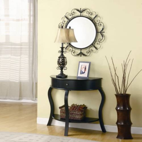 Image of Coaster Furniture 900152 3 Pieces Console Table Set in Black 900152 (B008A1IG0C)