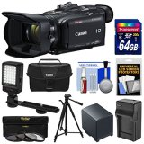 Canon-Vixia-HF-G40-Wi-Fi-1080p-HD-Digital-Video-Camcorder-with-64GB-Card-Battery-Charger-Case-Tripod-3-Filters-LED-Light-Kit