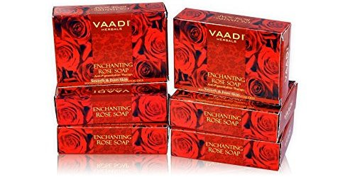 Vaadi Herbals Enchanting Rose Soap Mulberry Extract, 75gms x 6 @Rs. 164
