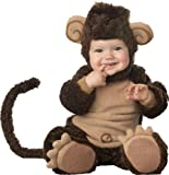 Lil Characters Infant Monkey Costume, Brown/Tan